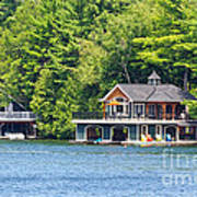 Two Luxury Boathouses Art Print