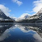 Two Medicine Lake After A Snowstorm Art Print
