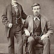 Two Men, 19th Century Art Print