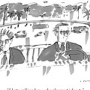 Two Men In Suits Riding In A Convertible Art Print