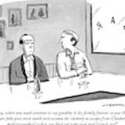 Two Men Talk In A Bar Art Print