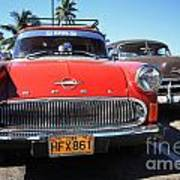 Two Old American Cars Art Print