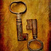 Two Old Keys Art Print