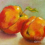Two Peaches Art Print