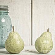 Two Pear Still Life Art Print