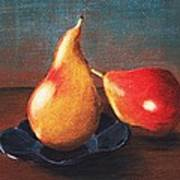 Two Pears Art Print by Anastasiya Malakhova