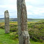 Two Ring Of Brodgar Stones Art Print