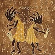 Two Sax Players Art Print