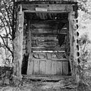 Two-seater Outhouse Art Print