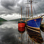 Two Ships At The Cost Of Loch Fyne Art Print