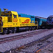 Two Trains Art Print