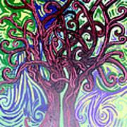 Two Trees Twining Art Print
