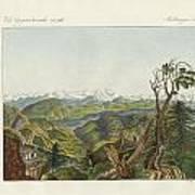 Two Views Of The Himalayas Art Print