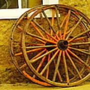 Two Wagon Wheels Art Print