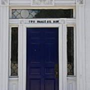 Two Whale Oil Row - Blue Door - New London Art Print