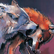 Two Wolves Art Print