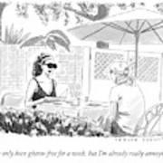 Two Women Speak At A Cafe Speak Art Print