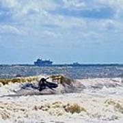 Tybee Island Kite Surfing Art Print