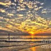 Calm Seas And A Tybee Island Sunrise Art Print