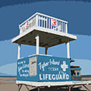Tybee Third Street Lifeguard Stand Art Print
