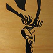 Tying Pointe In Black Art Print