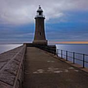 Tynemouth Pier Lighthouse Art Print