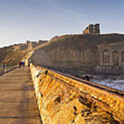 Tynemouth Priory And Castle From North Pier Art Print