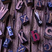 Typesetting Blocks Art Print