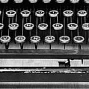 Typewriter Triptych Part 2 Art Print