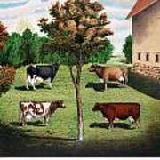Typical Cows  Art Print