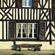 Typical House  Half-timbered In Normandy. France. Europe Art Print by Bernard Jaubert