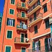 Typical Ligurian Homes Art Print