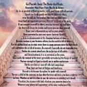Typography Art Desiderata Poem On Stairway To Heaven Art Print