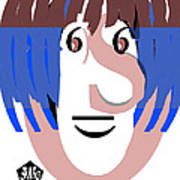 Typortraiture Ringo Starr Art Print