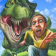 Tyrannosaurus Rex Jurassic Park Dinosaur - T Rex - Paleoart- Fantasy - Extinct Predator Art Print