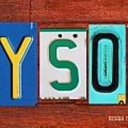 Tyson License Plate Name Sign Fun Kid Room Decor Art Print