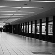 u-bahn platform and station Berlin Germany Print by Joe Fox