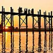 U Bein Bridge - Myanmar Art Print