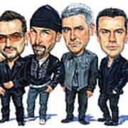 U2 Art Print by Art