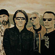 U2 Silver And Gold Art Print