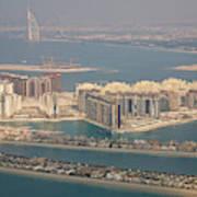 Uae, Dubai Aerial Of Palm Jumeirah Art Print