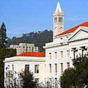 Uc Berkeley . Sproul Plaza . Sproul Hall .  Sather Tower Campanile . 7d10008 Art Print