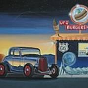 U.f.o. Burgers Art Print