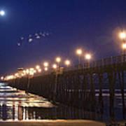 Ufo's Over Oceanside Pier Art Print