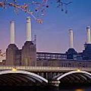 Uk, England, View Of Battersea Power Art Print