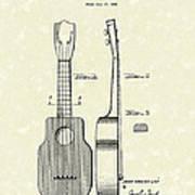 Ukelele 1940 Patent Art Art Print by Prior Art Design