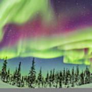 Ultrawide Aurora 4 - Feb 21, 2015 Art Print