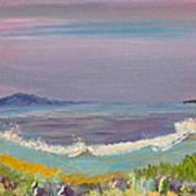 Ulua Beach At Sunset Art Print