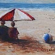 Umbrella Beach Art Print