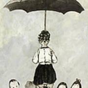 Umbrella Children Art Print